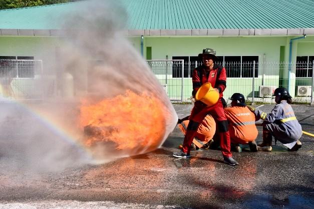 สวนสัตว์เปิดเขาเขียว ฝึกอบรมการดับเพลิงเบื้องต้นและการซ้อมอพยพหนีไฟ