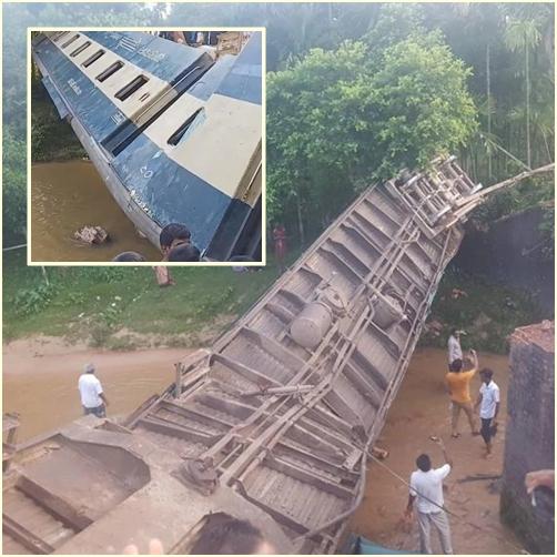 In Clips :ระทึก!!ตู้โบกี้รถด่วนขาเข้าธากาตกคลอง หลังรางรถไฟเหนือเขื่อนระบายน้ำขาด ดับ 5 เจ็บหลายร้อย