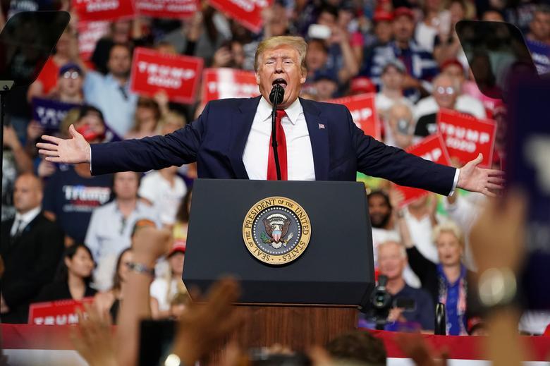 ประธานาธิบดี โดนัลด์ ทรัมป์ เริ่มเปิดฉากหาเสียงเตรียมพร้อมสำหรับการเลือกตั้งสมัยหน้าในปี 2020