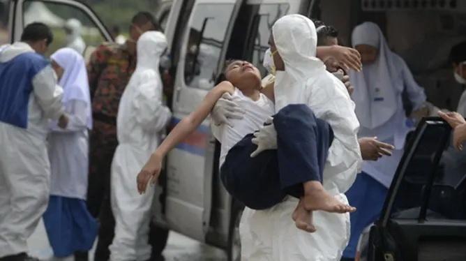 ชาวบ้านรัฐยะโฮร์สูดดม 'ก๊าซพิษ' ล้มป่วยอื้อ-ปิดโรงเรียนกว่า 400 แห่ง