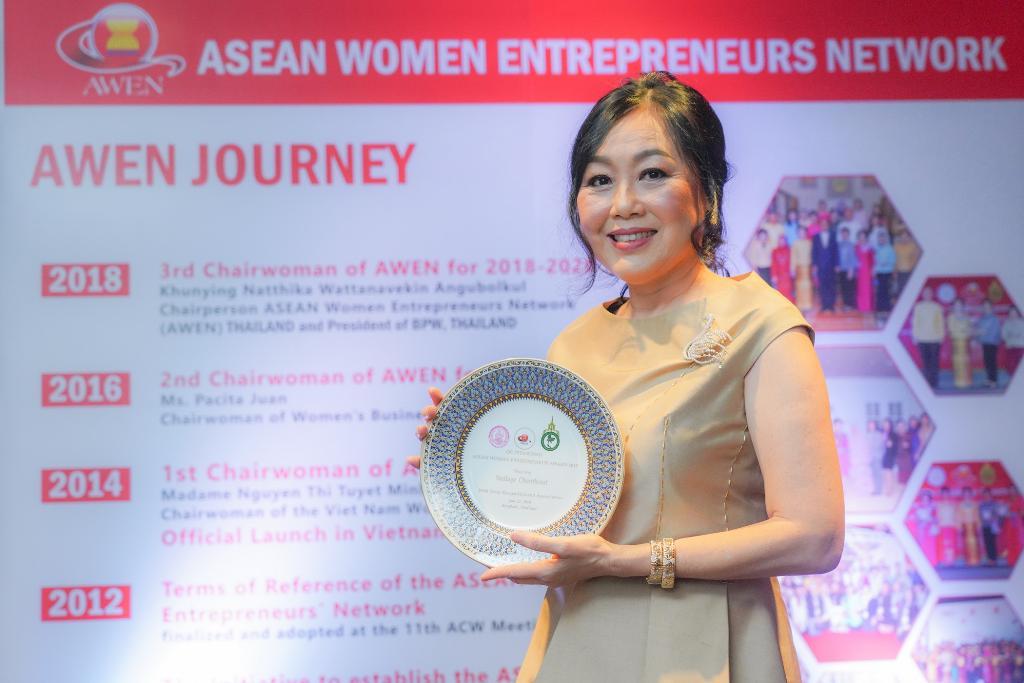 """""""วัลยา จิราธิวัฒน์"""" รับรางวัลผู้บริหารหญิงเก่งระดับอาเซียน AWEN Awards 2019"""