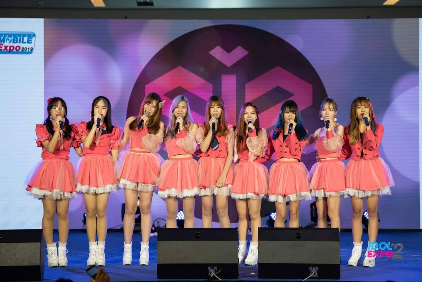 สมาชิก 9 คนที่ขึ้นแสดงในงาน idol expo #2