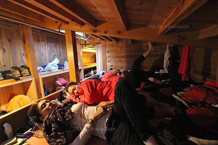 สภาพที่นอนใน Mountain Hut