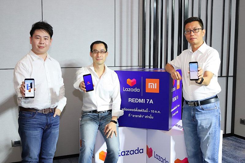 เสียวหมี่ จับลาซาด้า ขายสมาร์ทโฟน Redmi 7A เริ่มต้น 2,990 บาท