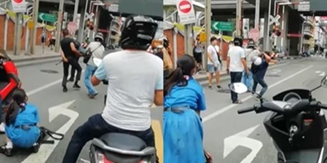 ลูกสาวร้องลั่น! พ่อโดนชกกลางถนน หลังเกิดเหตุเฉี่ยวชนแล้วหาคนผิดไม่ได้