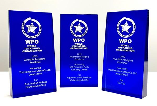 """นักออกแบบไทยเจ๋ง! คว้า 3 รางวัลชนะเลิศการออกแบบบรรจุภัณฑ์ระดับโลก  """"WorldStar Packaging Awards 2019"""""""