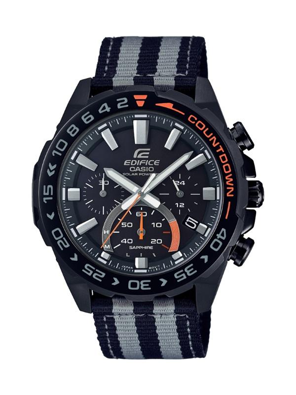 """คาสิโอ (Casio) แนะนำนาฬิกาซีรีส์ใหม่ Edifice Countdown Bezel EFS-S550 Series สำหรับนักแข่ง ดีไซน์สไตล์สปอร์ตพร้อมการจับเวลาแบบโคโนกราฟ และพลังงานแสงอาทิตย์ EFS-S550DB-1AV นำเสนอโดยนักแข่งรถฟอร์มูลาวันสัญชาติไทย """"อเล็กซานเดอร์ อัลบอน"""""""