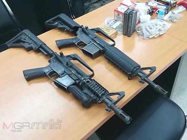 """ตร.เมืองคอนบุกยึดคลังแสงหนุ่มใหญ่ พบซุก M16 และกระสุนเพียบอ้างของ """"สารวัตร"""""""