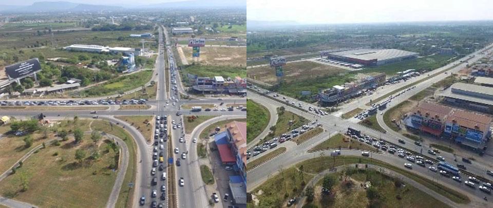 (แฟ้มภาพ) สี่แยกอินโดจีนก่อนที่จะมีการก่อสร้างทางแยกต่างระดับ