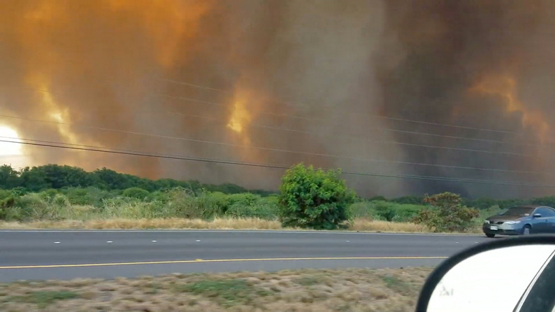 ฮาวายประกาศสถานการณ์ฉุกเฉิน หลังไฟป่าบน 'เกาะเมาวี' ลุกลามหนัก