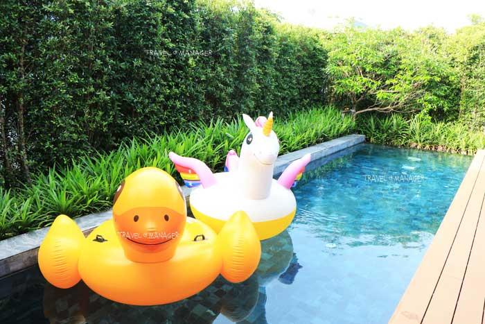สระว่ายน้ำของห้องพัก Garden Pool Villa