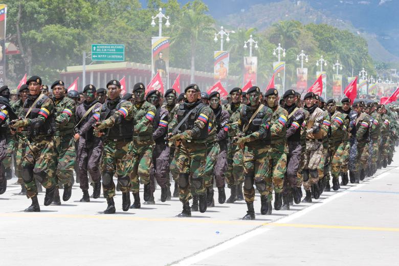 ทหารเวเนซุเอลาเดินขบวนพาเหรดเนื่องในวันครบรอบการประกาศเอกราช
