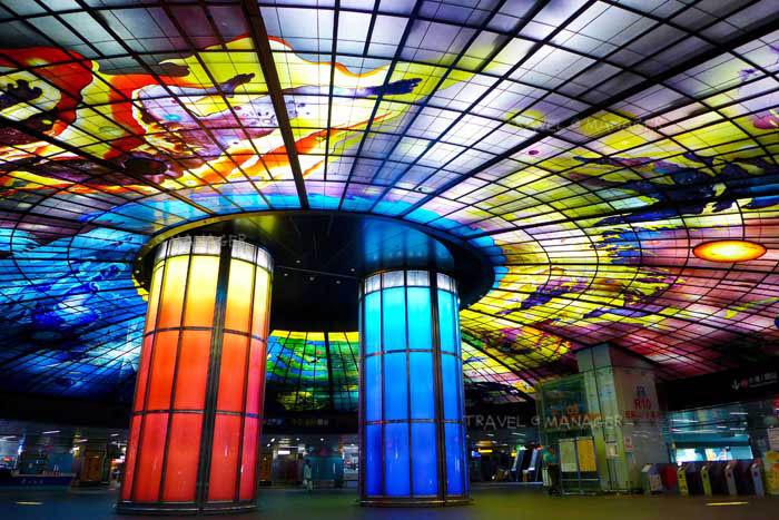 ความสวยงามของสถานีรถไฟใต้ดิน Formosa Boulevard Station
