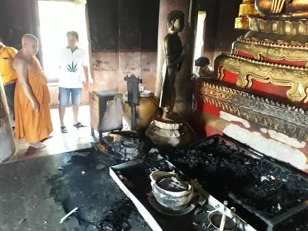 ระทึกรับวันเข้าพรรษา!ไฟไหม้อุโบสถวัดราชบูรณะ จิตรกรรมฝาผนังยุครัตนโกสินทร์เสียหายเกือบทั้งหมด