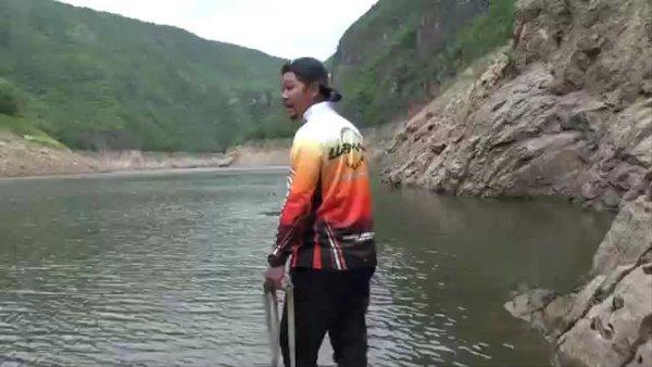 สุดประทับใจ!พรานปลาหนุ่มช่วยกวางผาถูกหมาป่าไล่ตกอ่างเก็บน้ำเขื่อนภูมิพลรอดหวุดหวิด