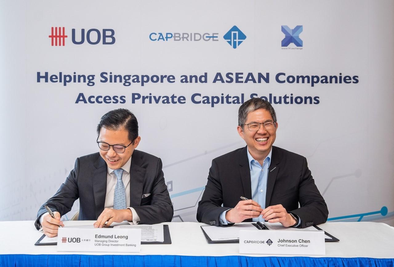 CapBridge และ UOB ลงนามความร่วมมือด้านการลงทุนสำหรับธุรกิจในภูมิภาค