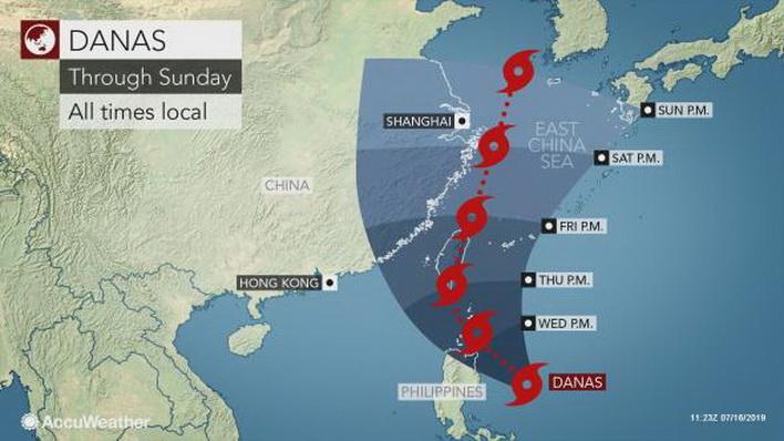 ไต้หวันอพยพคน 2 พัน-ยกเลิกเที่ยวบิน รับมือ 'ไต้ฝุ่นดานัส' ซัดถล่มพรุ่งนี้