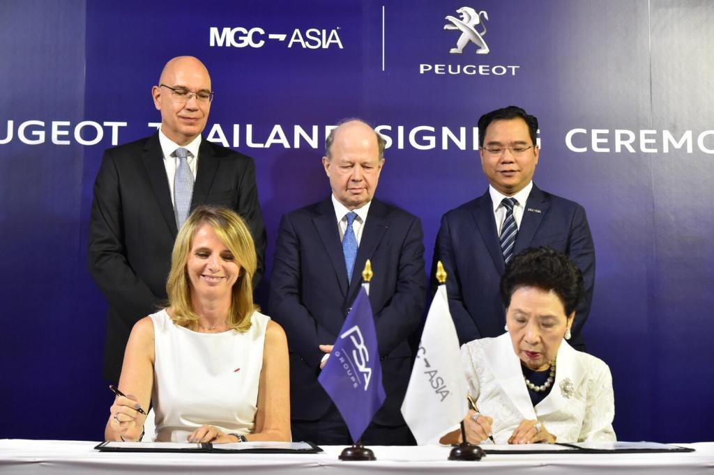 พิธีลงนามสัญญาระหว่าง กรุ๊ป พีเอสเอ กับ เอ็มจีซี-เอเชีย