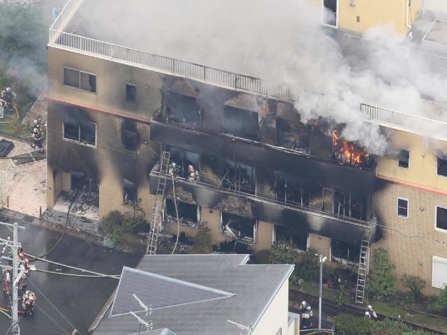 """ไฟไหม้ """"สตูดิโออนิเมชั่นดัง"""" ของญี่ปุ่นในเกียวโต  คาดเป็นการวางเพลิง"""