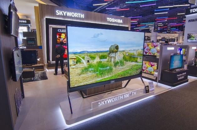 """สกายเวิร์ท """"SKYWORTH"""" สู้ศึกตลาดทีวีนวัฒกรรมอัจฉริยะ เปิดบูทแสดงสินค้า ณ เพาเวอร์ มอลล์ หวังปั่นยอดขายเต็มกำลัง"""