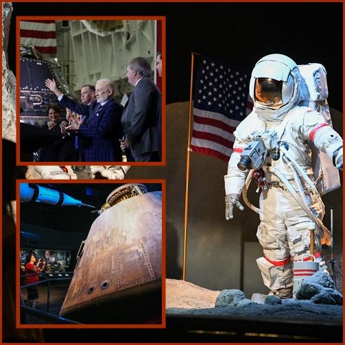 "In Pics&Clip: ครบ 50 ปีสหรัฐฯส่งมนุษย์สู่ดวงจันทร์ ""รองปธน.เพนซ์""  ฉลองพร้อมกับมนุษย์อวกาศยานอพอลโล 11 ที่ฐานปล่อยศูนย์อวกาศเคนเนดี"