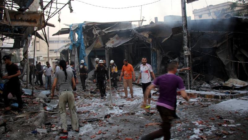 รัสเซียทิ้งบอมบ์ถล่มตลาดในซีเรีย ตาย 19 ศพ เป็นพลเรือน 16 ราย