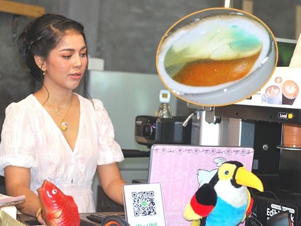 สาวเกาะลิบงเปิดคาเฟ่ทำปริ้นภาพลงเครื่องดื่ม ลูกค้าชื่นชอบโดยเฉพาะภาพมาเรียม