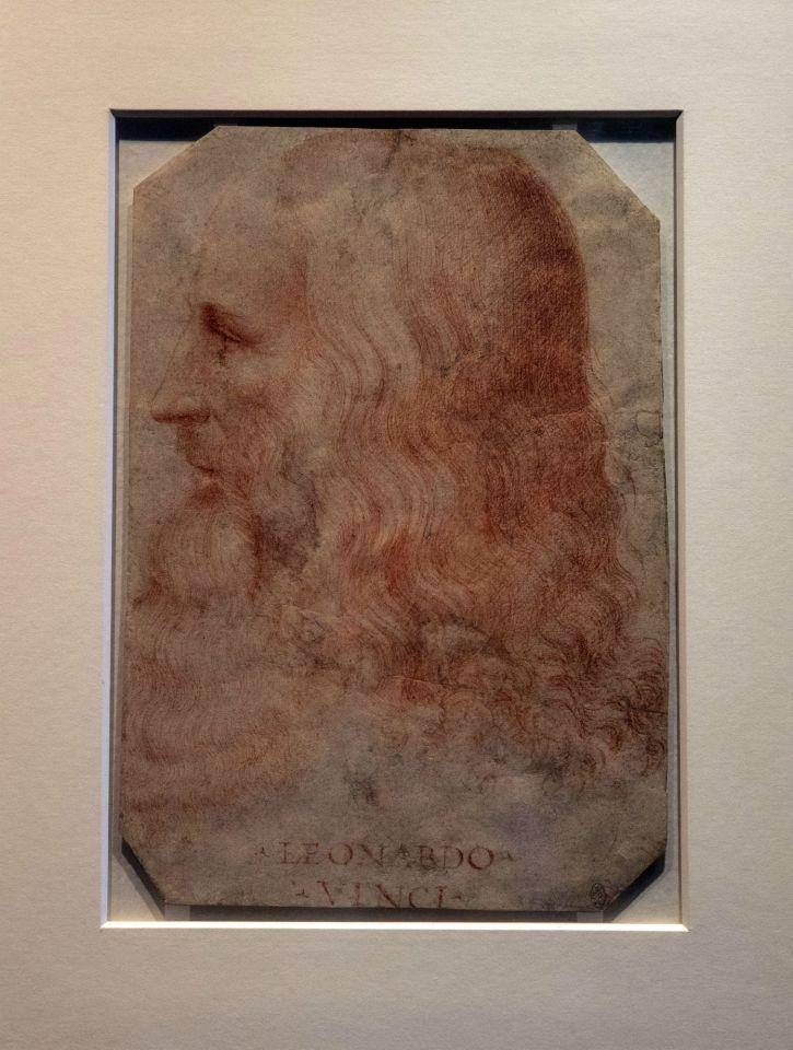 ภาพเหมือนของลีโอนาร์โด ดาร์วินชี ซึ่งเป็นส่วนหนึ่งในของสะสมพระราชวังวินซอร์ (AP)
