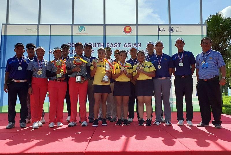 ทีมชาติไทยคว้า 3 แชมป์ศึกกอล์ฟสมัครเล่นทีมชิงแชมป์อาเซียน
