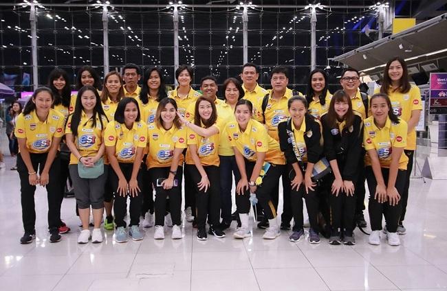 """ตบลูกยางสาวไทย ลัดฟ้าลุยคัดโอลิมปิก """"นุศรา"""" รับ งานยาก แต่เต็มที่ทุกนัด"""