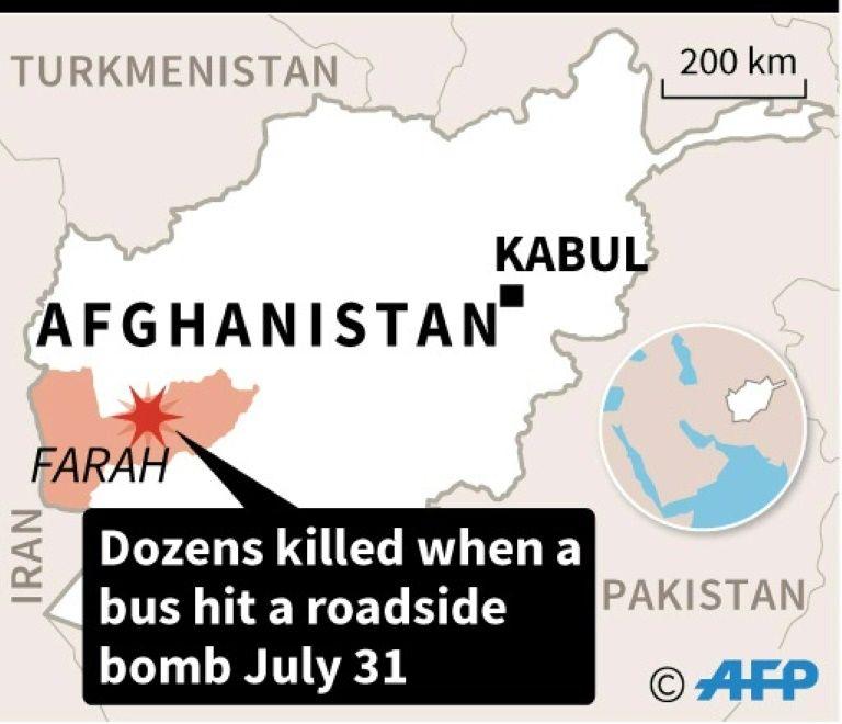 """รถบัสอัฟกันเหยียบ """"ระเบิดข้างถนน"""" ของตอลิบาน คร่าอย่างน้อย 28 ศพ"""