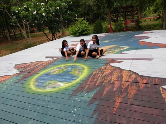 มมส.สร้างแลนด์มาร์คใหม่ภาพวาด3มิติสถานที่ผ่อนคลายหลังเลิกเรียน