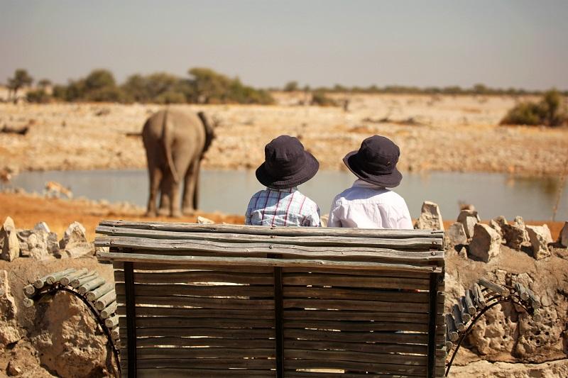 Okaukuejo Waterhole in Etosha Namibia