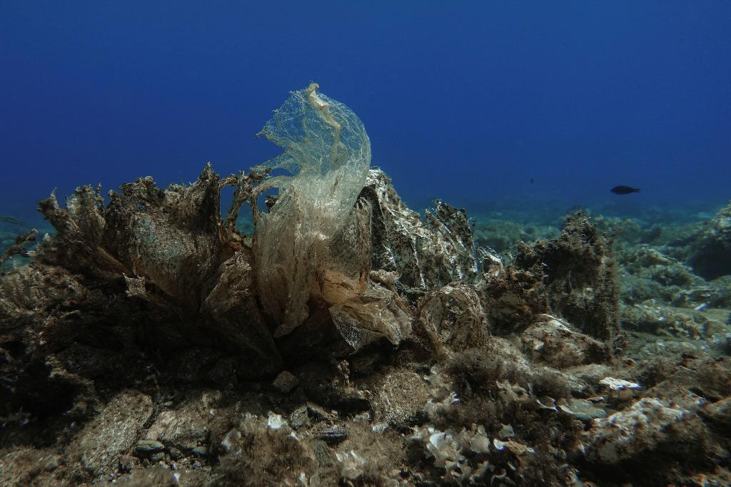 ขยะพลาสติกในก้นทะเลที่กรีซ (REUTERS/Stelios Misinas)
