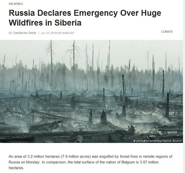 ไฟป่าผลาญไซบีเรีย หวั่นกระทบอาร์กติก!! 'กรีนพีซ' ชี้เป็นตัวเร่งภาวะโลกร้อน
