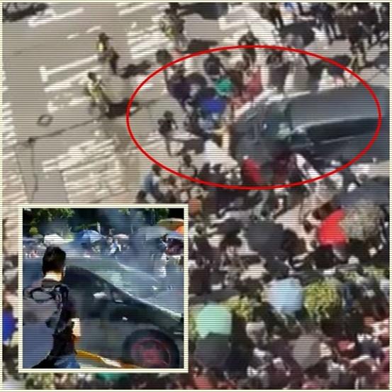 In Clip: ม็อบปิดหน้าฮ่องกงเปิดแถลงข่าวขอประชาธิปไตย หลังมีรถถึง 2 คันพุ่งชนฝูงผู้ประท้วง