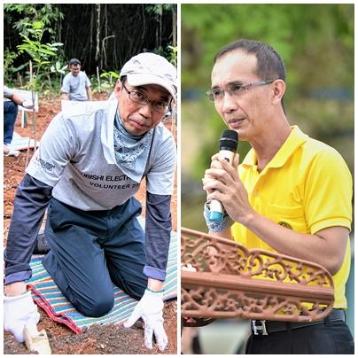 ทาเคชิ โอชิมะ รองประธานกรรมการ มูลนิธิมิตซูบิชิฯ (ซ้าย) ปรมินทร์ วงศ์สุวัฒน์ รองอธิบดีกรมป่าไม้ (ขวา)