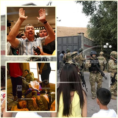"""In Pics&Clips: ทหารดับ 1 เจ็บร่วม 40 หลังปฏิบัติการบุกจับ""""อดีตปธน.คีร์กีซสถาน"""" ที่บ้านพักล้มเหลว"""