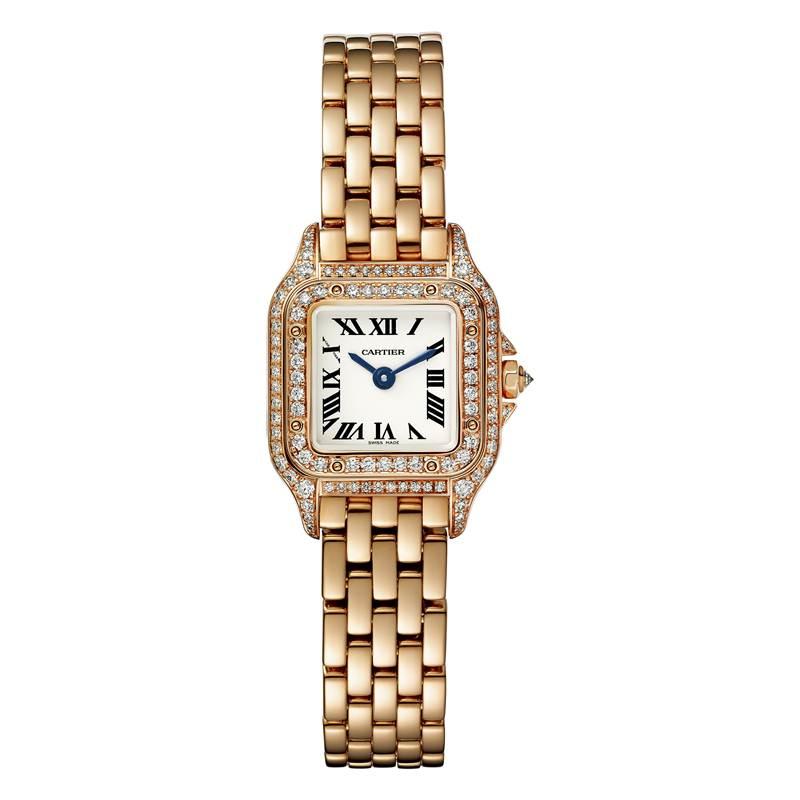 นาฬิกา Cartier รุ่น Panth?re de Cartier watch Yellow gold – Paved with Diamond - Quartz movement - Also available in a steel and medium model