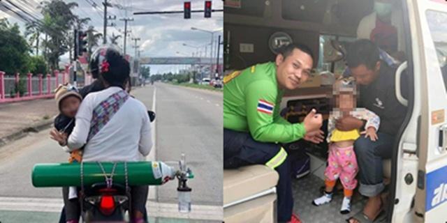 ปลื้มใจ! กู้ภัยแม่สายรับน้องแบกถังออกซิเจนขึ้นรถไปรพ. ไม่ต้องตากแดดตากลมแล้ว