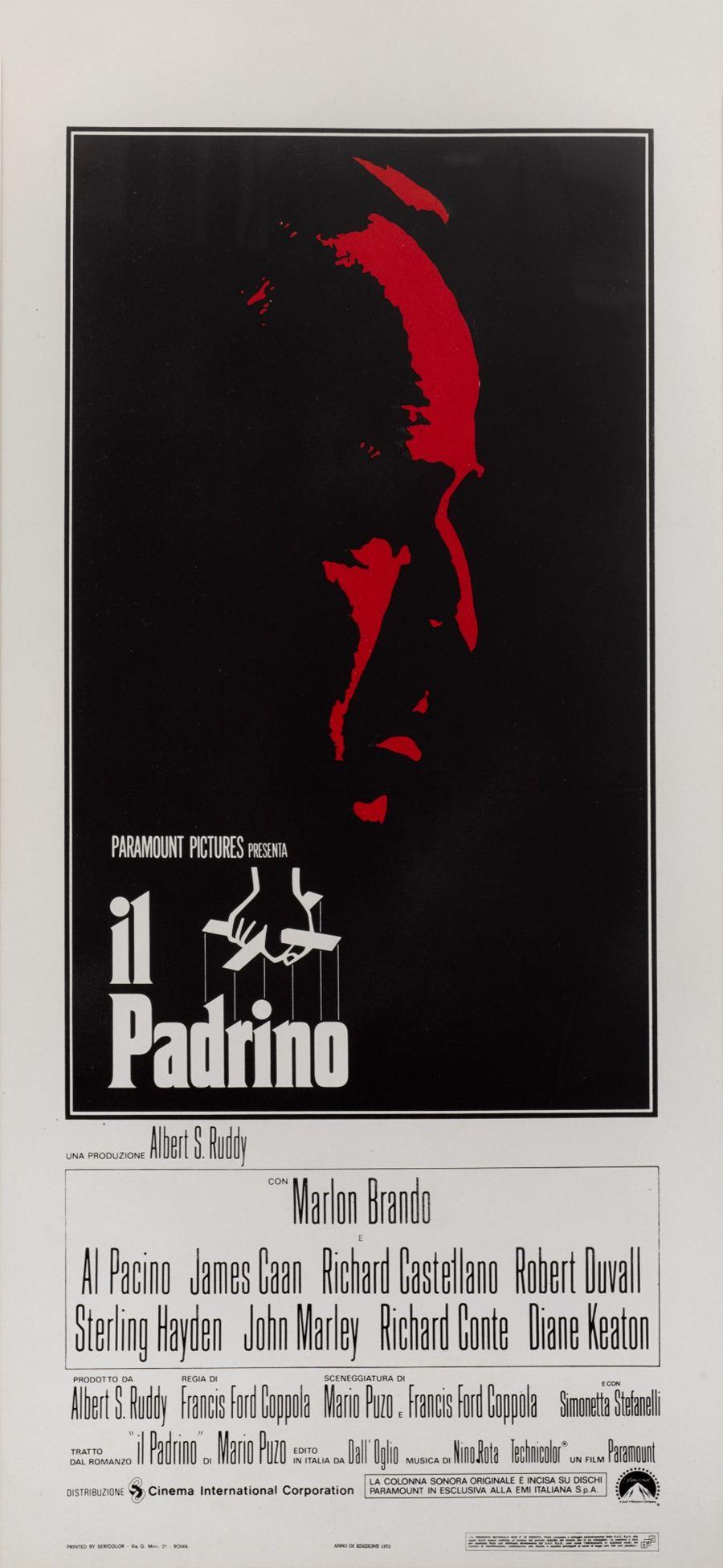 โปสเตอร์เดอะ ก็อดฟาเธอร์ ปี 1972 ผลิตในอิตาลี ประเมินราคาประมูลสูงสุด 1,000 ปอนด์ หรือราว 3.7 หมื่นบาท