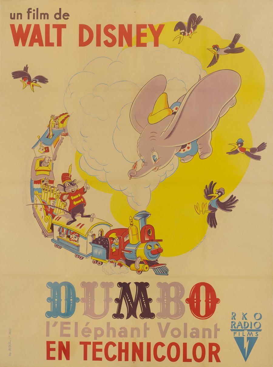 โปสเตอร์ดัมโบ ปี 1941 ผลิตในฝรั่งเศส  ประเมินราคาประมูลสูงสุด 6,000 ปอนด์ หรือราว 2.2 แสนบาท