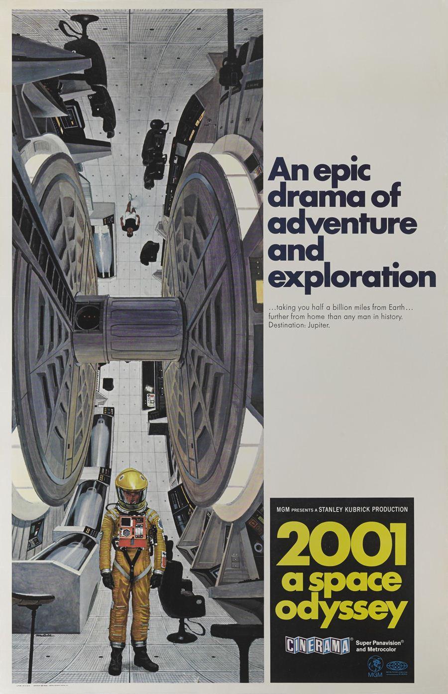 โปสเตอร์ 2001 a space odyssey ปี 1968 ผลิตในอเมริกา ประเมินราคาประมูลสูงสุด 9,000 ปอนด์ หรือราว 3.3 แสนบาท