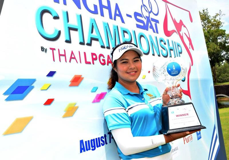 """""""ชลดา"""" ซิวแชมป์ปิดฤดูกาลไทยแอลพีจีเอ 2019 พร้อมรั้งมือหนึ่งทำเงิน"""