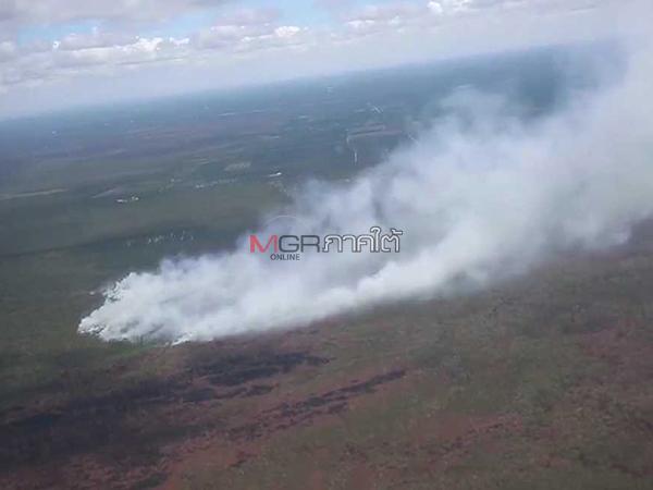 แม่ทัพ 4 บินสำรวจไฟป่าพรุควนเคร็งยังปะทุ รมว.ทส.สั่งเก็บข้อมูลดำเนินคดีคนรุกป่า
