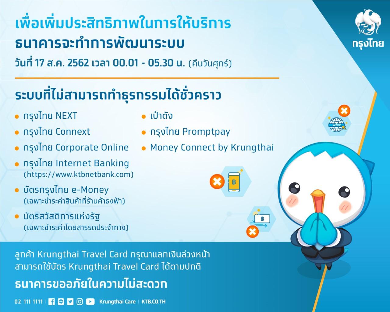 กรุงไทยพัฒนาระบบอิเล็กทรอนิกส์เพิ่มประสิทธิภาพการให้บริการ