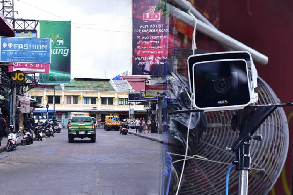 กทม.ติดกล้อง CCTV ทางเข้าออกถนนข้าวสาร ตรวจจับใบหน้า-รถได้