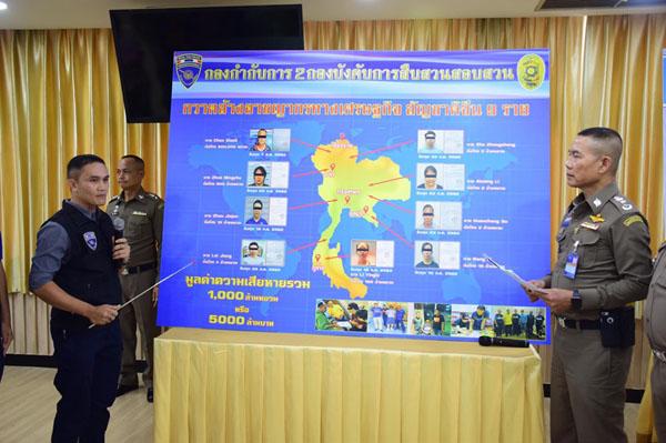 จับยกแก๊งจีน ปลอมสัญญาขายของออนไลน์ หนีซุกไทย