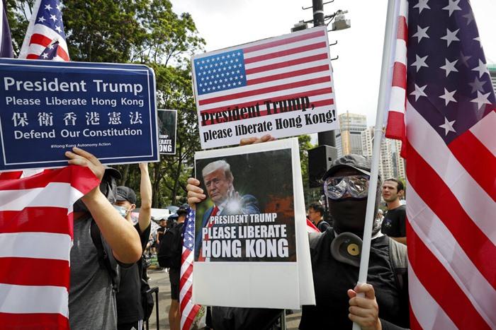 <i>ส่วนหนึ่งของขบวนผู้ประท้วงในฮ่องกงเมื่อวันที่ 21 ก.ค. ที่ผ่านมา </i>