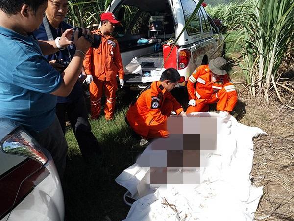 พบศพสาวใหญ่ เมืองปทุม เหยื่อกิ๊กหนุ่มโหด ฆ่าทิ้งหมกไร่อ้อยเมืองกาญจนบุรี